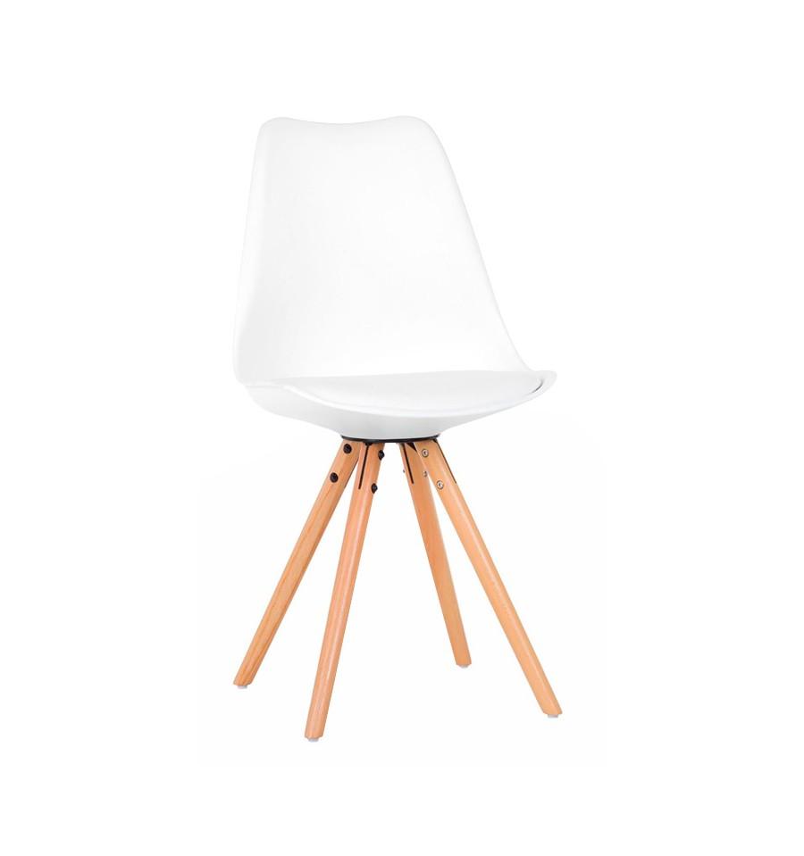 Silla de diseño blanca Kandem Oslo - IconsCorner