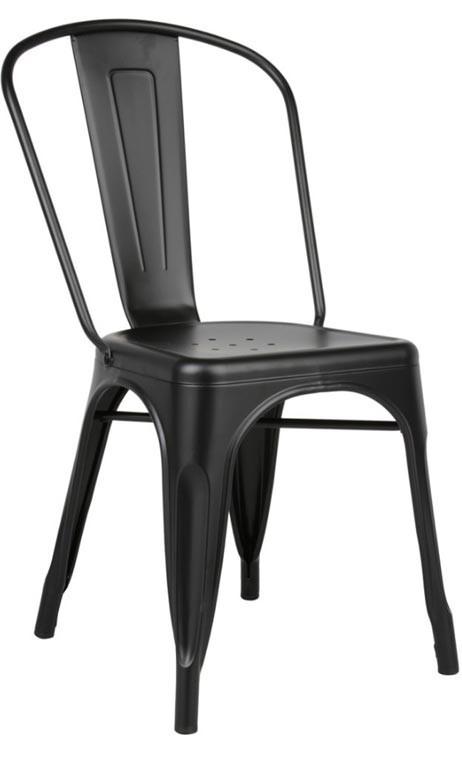 Silla metálica Tolix Tribute negra