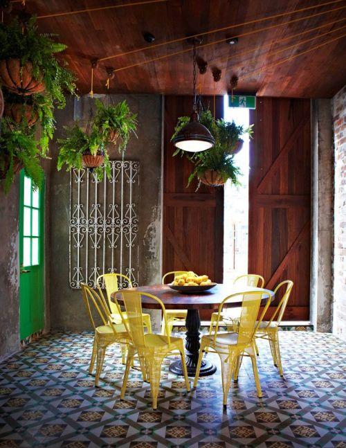 conjunto de sillas Xavier Pauchard amarillas
