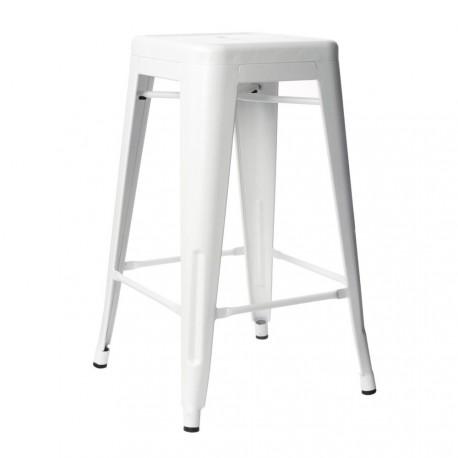 taburete metálico blanco IconsCorner