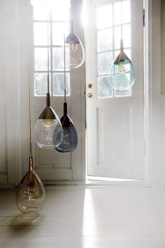 propuesta de modelos de lámparas de cristal modernas para salón