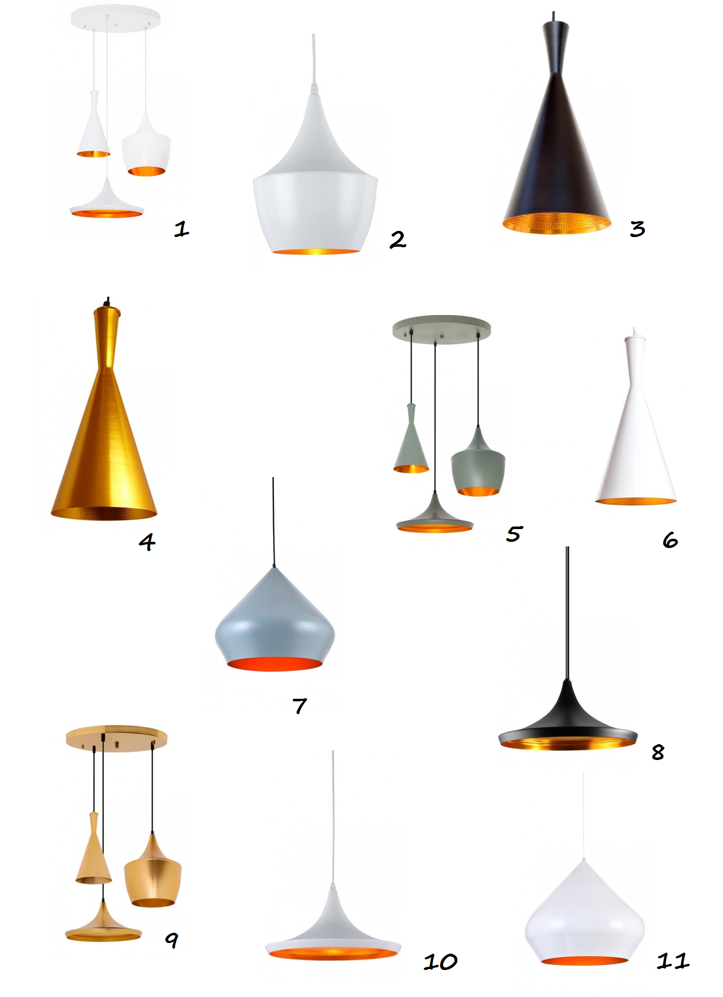 Versiones de Lámparas Tom Dixon