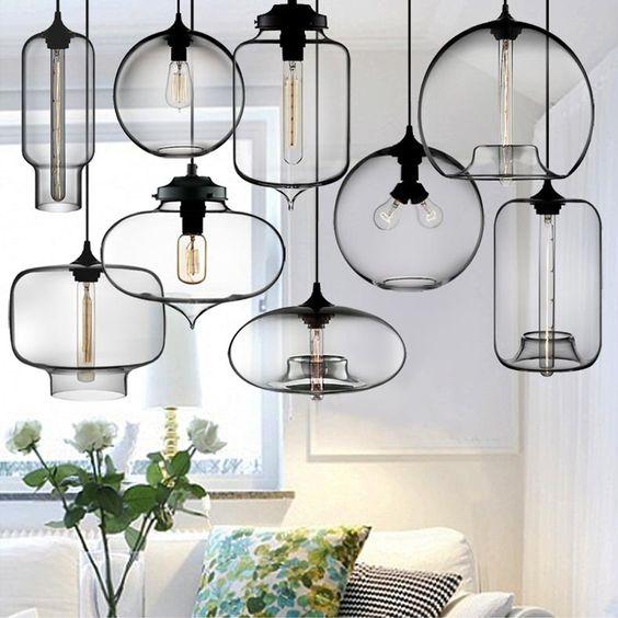 lamparas de cristal tipo Pyles