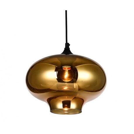 Lámpara colgante de cristal Birne Ámbar