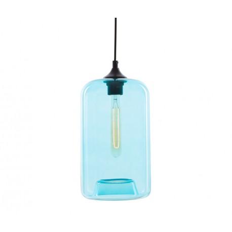 Lámpara de cristal Birne Azul