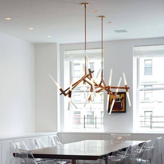 Lámpara de techo doble tipo Lindsey Adelman
