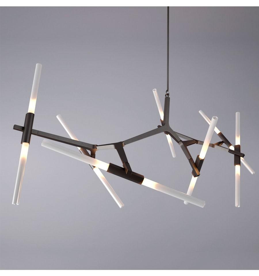 Lámpara de techo de diseño de 14 elementos de IconsCorner en color negro