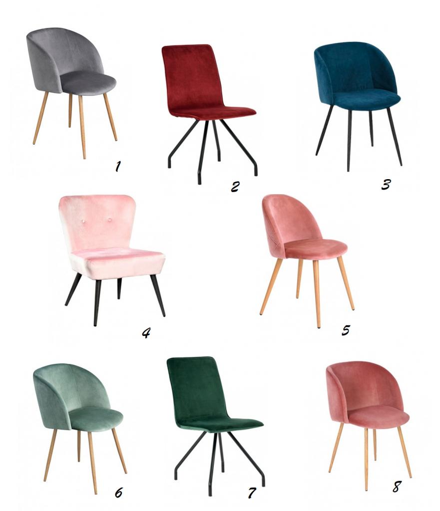 sillas y sillones de terciopelo IconsCorner