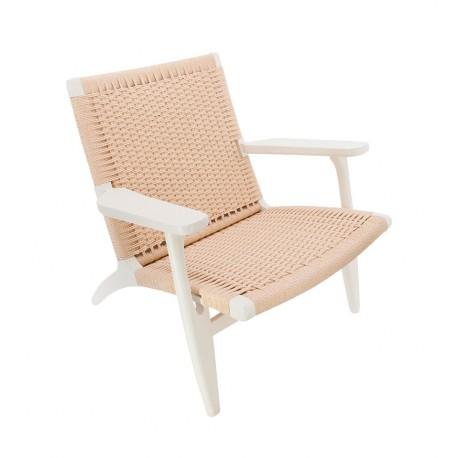 réplica sillón CH25 nóridico en blanco