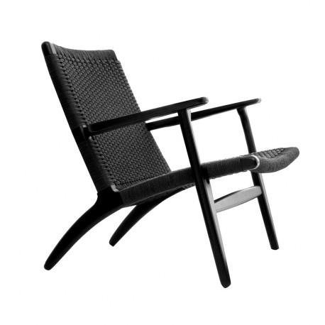 sillón nórdico CH25 negro