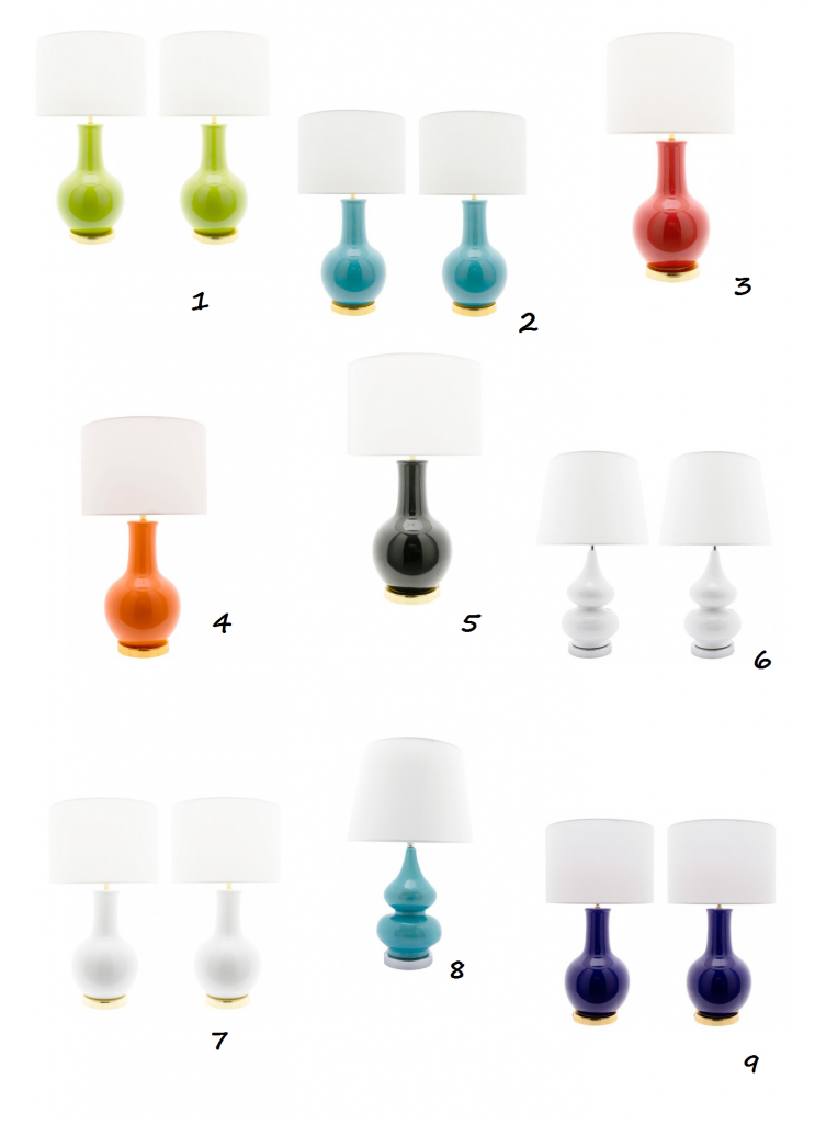 selección de lámparas de pie cerámico IconsCorner