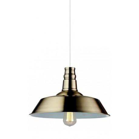 iluminación industrial: lámpara de techo metálica