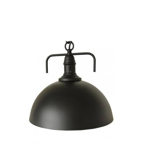 iluminación industrial: lámpara de techo metálica en color negro mate